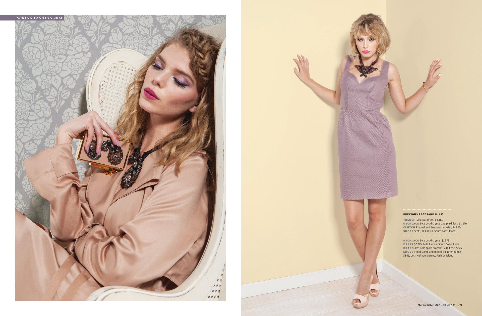Spring fashion Orange Coast Magazine 03/2014