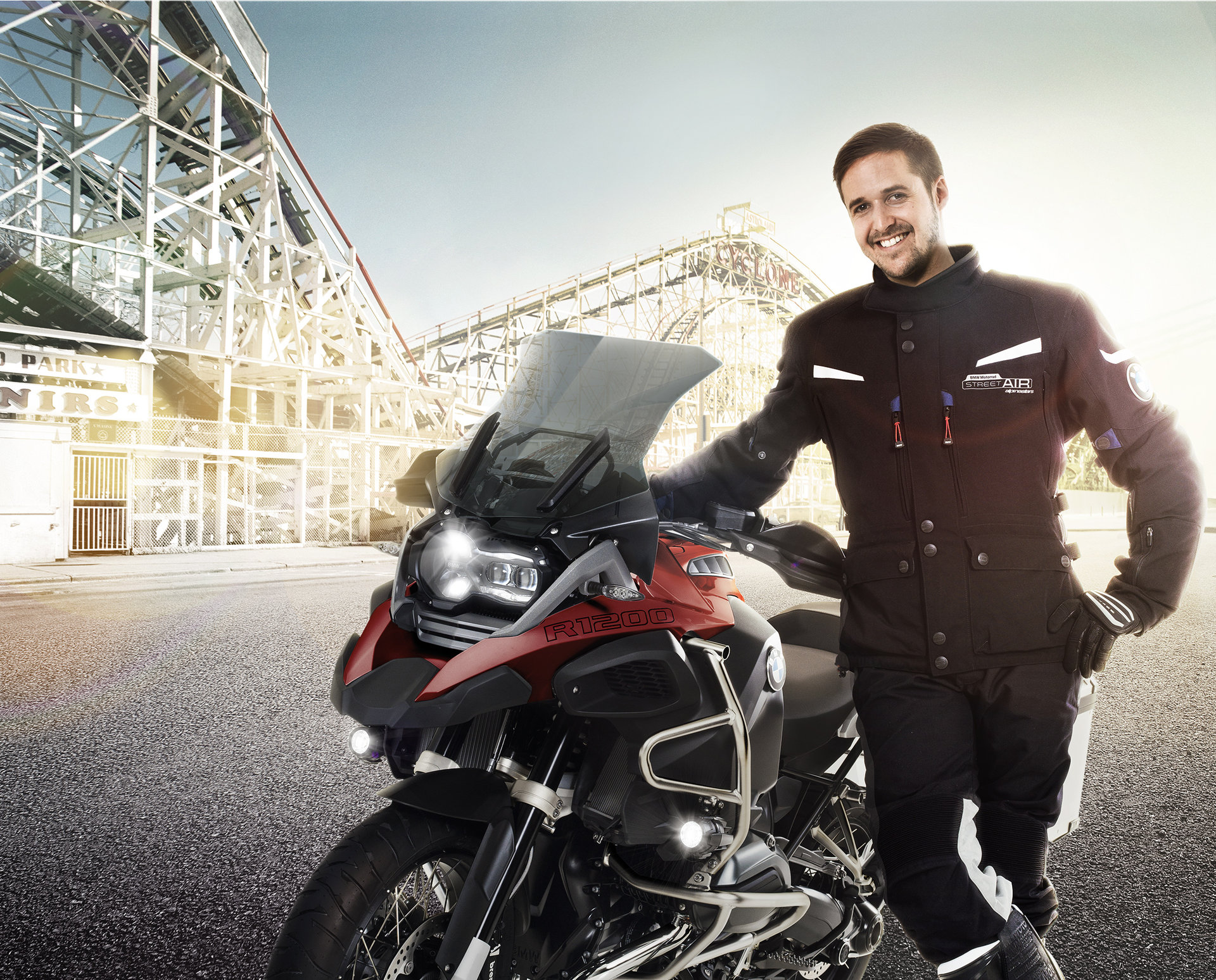 TOM LÜTHI FOR BMW MOTORRAD I Photographer: Thomas Buchwalder Grooming: Melanie Volkart